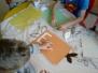 Poznajemy literę E wyklejanie z masy porcelanowej - 5-latki